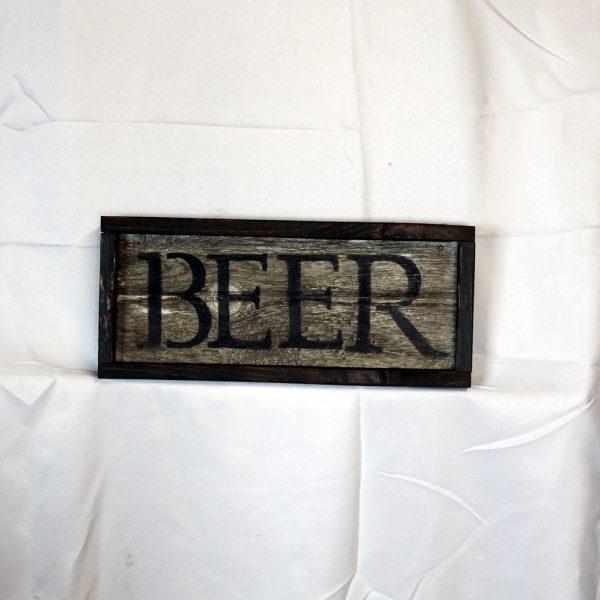 Beer Whiskey Barrel Sign