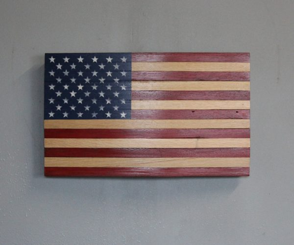 Oak Whiskey Stave American Flag