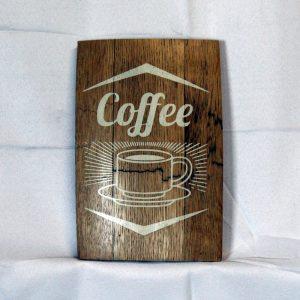 Coffee Whiskey Barrel Plaque