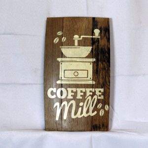 Coffee Mill Whiskey Barrel