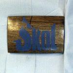 SKOL - MN Vikings Whiskey Barrel Sign